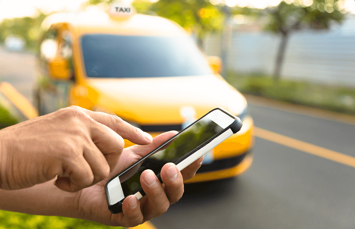 Заказ такси с телефона